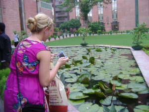 Brittany fell in love with the water lily pond.